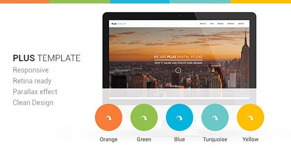Plus Html One-Page Template - Creative Site Templates