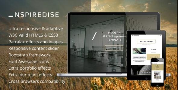 _NSPIREDISE - Onepage Parallax Responsive Template - Portfolio Creative
