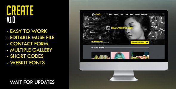 Create Muse Template - Creative Muse Templates