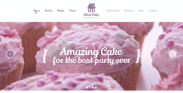 Wind Cake – One Page PSD Template