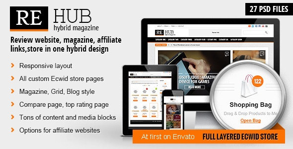 REHub - Hybrid Magazine, Shop, Review PSD Template - Miscellaneous Photoshop