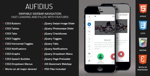 Aufidius Mobile - Mobile Site Templates
