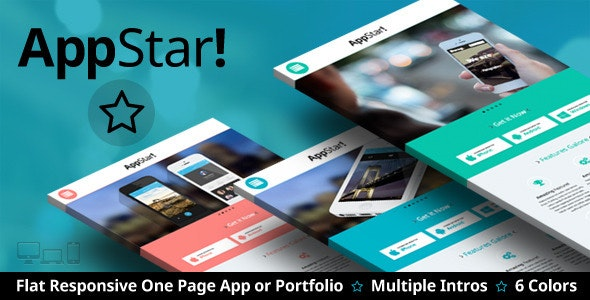 AppStar - One Page Portfolio & App Landing - Apps Technology