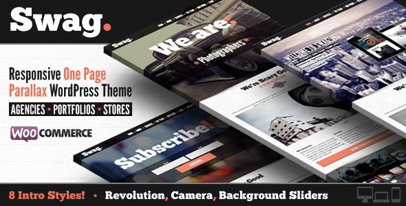 Swag - One Page Parallax WordPress Theme - Portfolio Creative