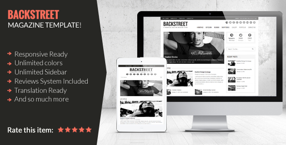 Backstreet – Blog & Magazine Theme
