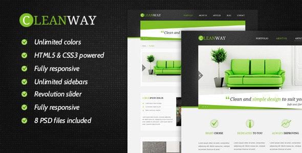 Cleanway - Responsive Multi-Purpose Theme - Corporate WordPress