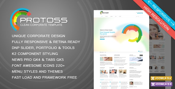 Protoss Clean Corporate Template For Joomla By Dnp Theme Themeforest
