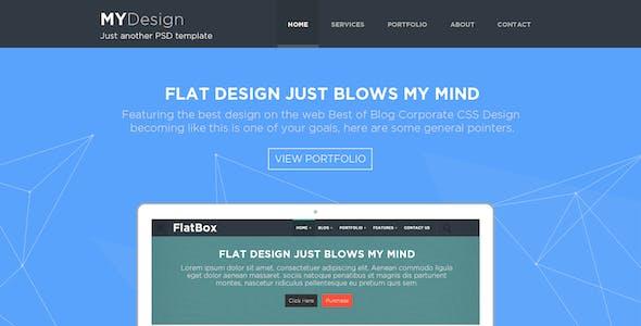 MYDesign - Onepage Multipurpose Flat HTML Template