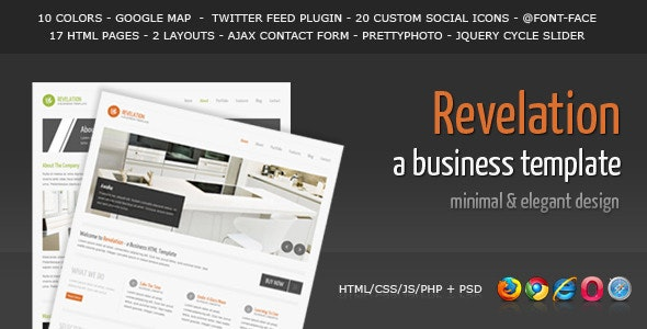 Revelation - Elegant and Minimal Business Template - Business Corporate