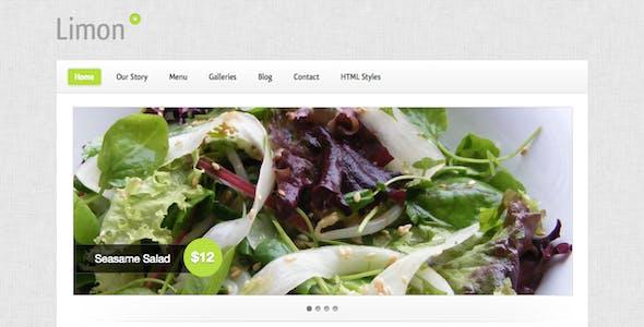 Limon - A Restaurant and Spa Wordpress Theme