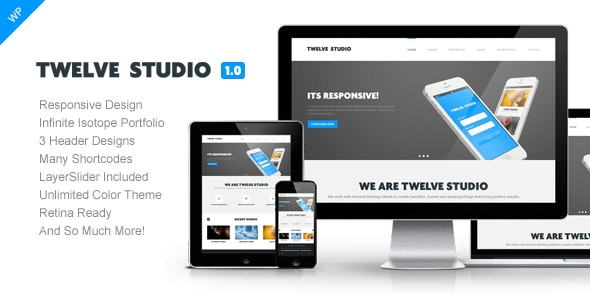 Twelve Studio - WordPress Responsive Theme - Creative WordPress