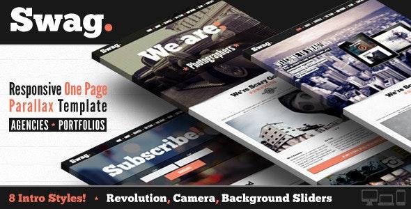 Swag - One Page Parallax Portfolio Template - Portfolio Creative