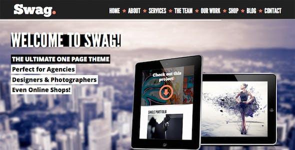 Swag - One Page Parallax Portfolio Template