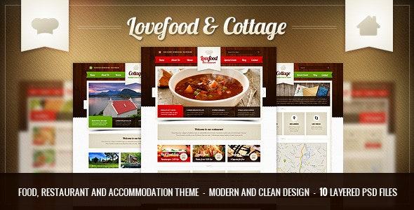 Lovefood & Cottage - food and accommodation | PSD - Food Retail