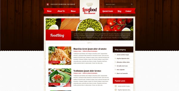Lovefood & Cottage - food and accommodation | PSD