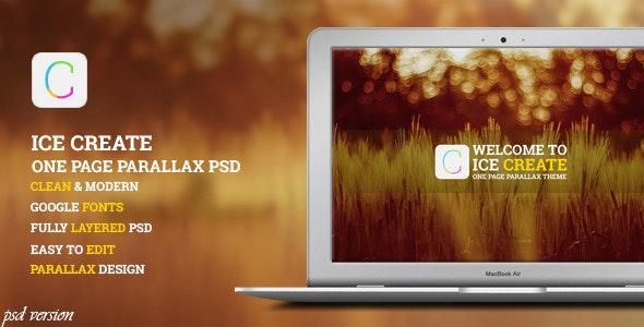Ice Create - PSD Template - Creative Photoshop