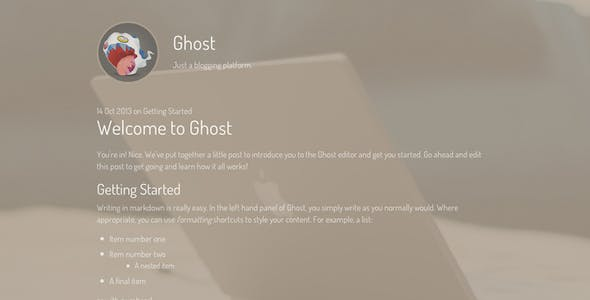 Friendly Responsive Theme for the new Ghost CMS
