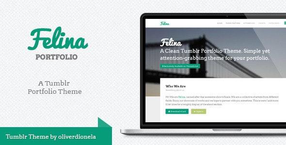 Felina Tumblr Portfolio Theme - Portfolio Tumblr