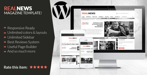 Realnews - Stylish and Responsive Magazine Theme
