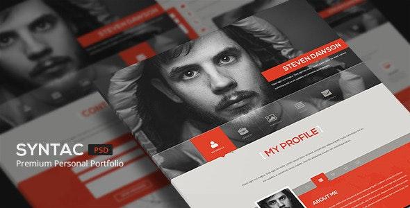 Syntac - Flat Personal Portfolio Html Template - Portfolio Creative