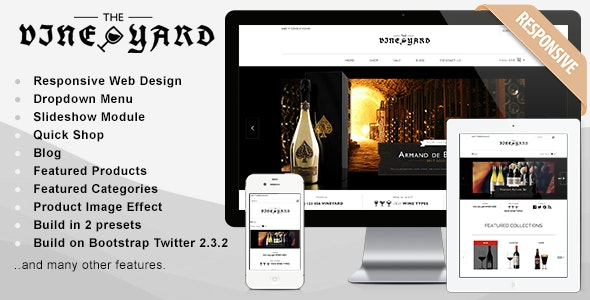 Responsive Shopify Theme - WineYard - Shopify eCommerce