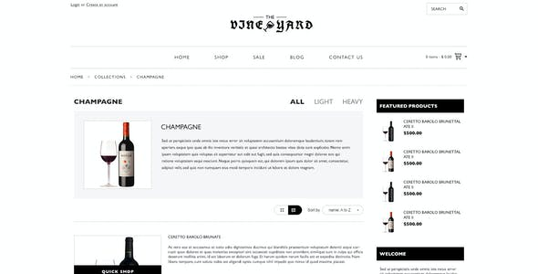 Responsive Shopify Theme - WineYard