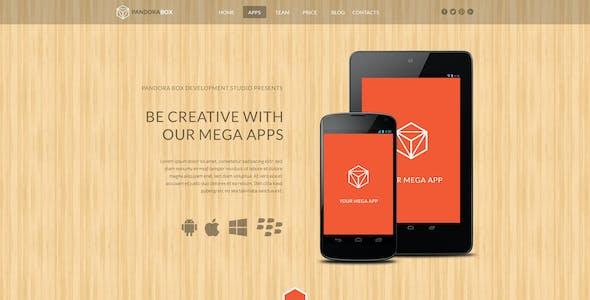 Pandora Box: Mobile Develop Onepage HTML Template