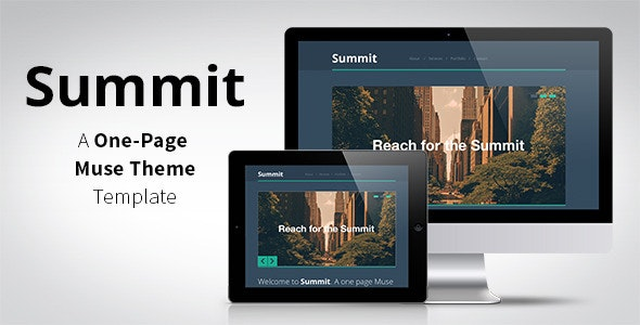 Summit - One Page Muse Template - Creative Muse Templates