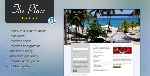 The Place - Hotel WordPress Theme - Travel Retail