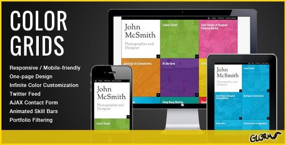 Color Grids - Responsive Creative Portfolio - Virtual Business Card Personal