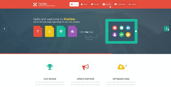 Flatible - Single Page HTML5 Template