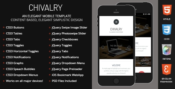 Chivalry Mobile by Enabled | ThemeForest