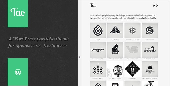 Tao: a modern & responsive 3D WordPress portfolio theme with beautiful transitions and animations - Portfolio Creative