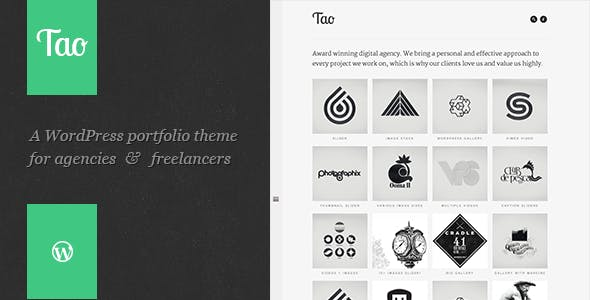 Tao: a modern & responsive 3D WordPress portfolio theme with beautiful transitions and animations