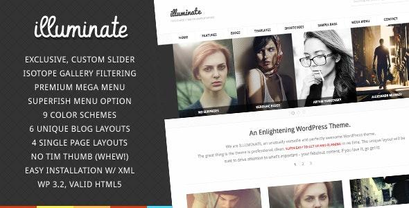 Illuminate - Minimalist & Creative WordPress Theme - Creative WordPress