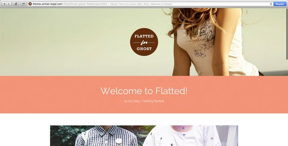 Flatted Responsive & Flat Theme for the Ghost CMS