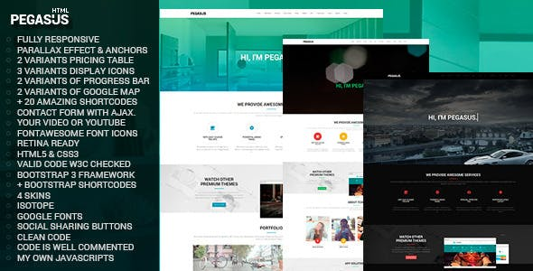 Pegasus Parallax One-Page HTML5