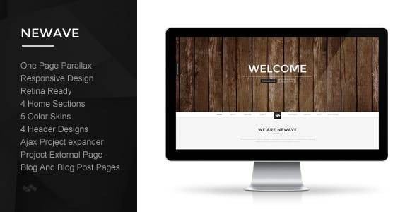 Newave - Responsive One Page Parallax Template by ClaPat