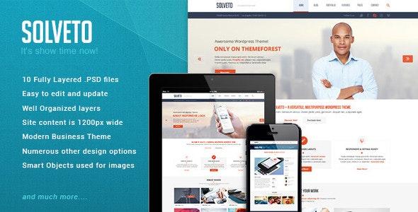 Solveto Psd template - Corporate Photoshop