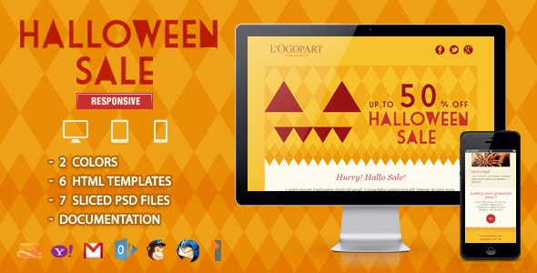 Halloween Sale - Responsive Email Template - Email Templates Marketing