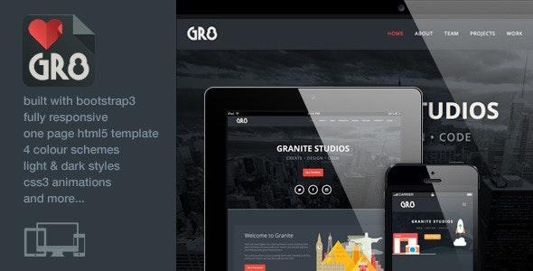 Granite - One Page Responsive Bootstrap3 Template  - Portfolio Creative