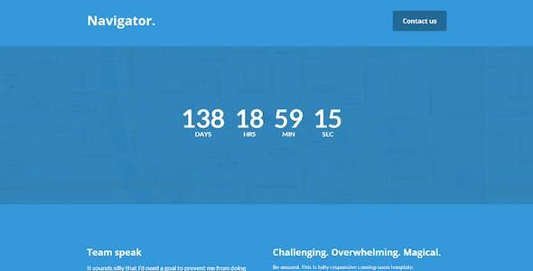Navigator | Responsive Coming Soon Template