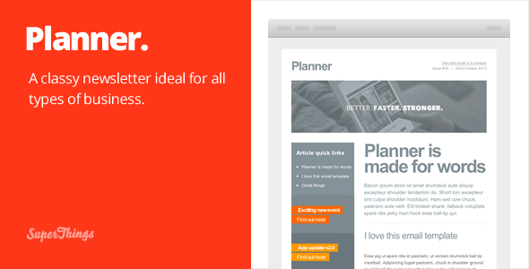 Planner email template - Email Templates Marketing