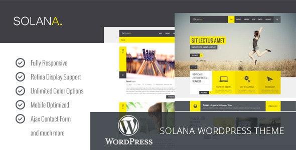 Solana - Responsive Multipurpose WordPress Theme - Business Corporate