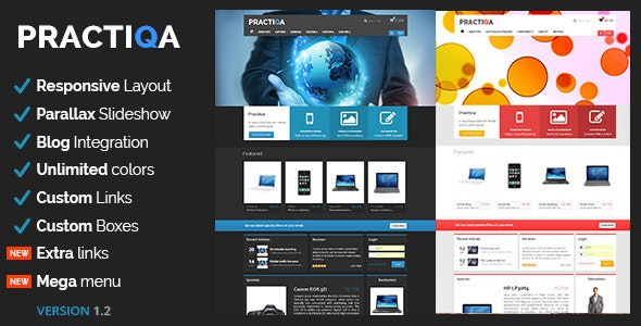 Practiqa Responsive & Customizable Opencart Theme - OpenCart eCommerce