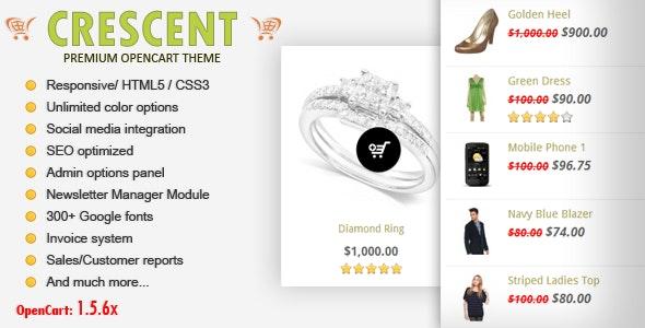 Crescent - Premium Responsive OpenCart Theme - OpenCart eCommerce