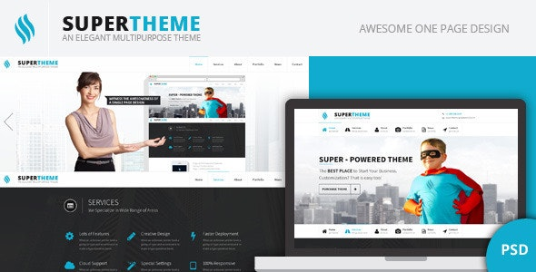Super | Onepage PSD Design - Creative Photoshop