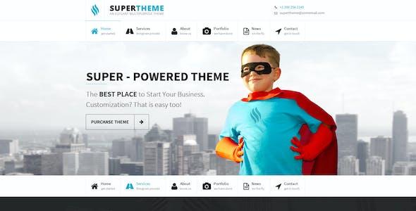 Super | Onepage PSD Design