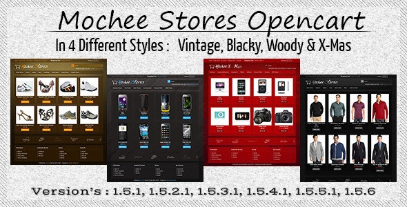 Mochee Stores Opencart 1.5 Template - Fashion OpenCart