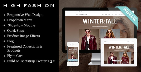 High Fashion Responsive Shopify Theme - Parallax - Fashion Shopify